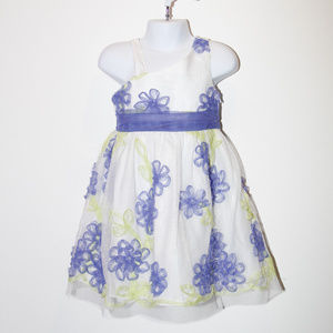 girl dress with purple flowers size 3T